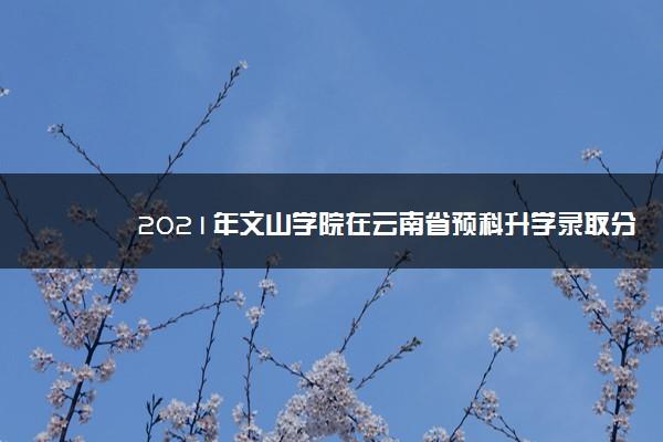 2021年文山学院在云南省预科升学录取分数线是多少