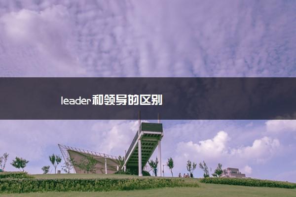 leader和领导的区别