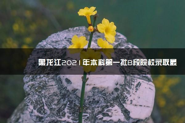 黑龙江2021年本科第一批B段院校录取最低分数线(四)