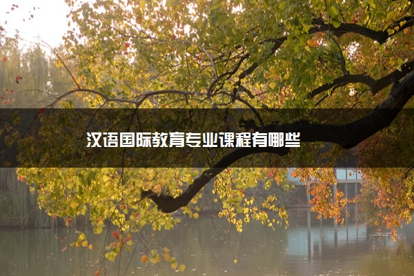汉语国际教育专业课程有哪些