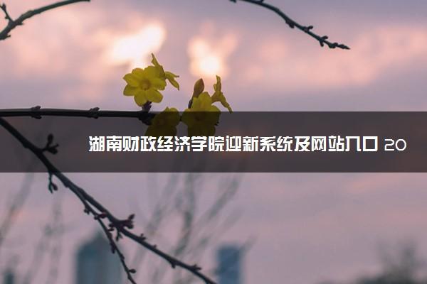 湖南财政经济学院迎新系统及网站入口 2021新生入学须知及注意事项