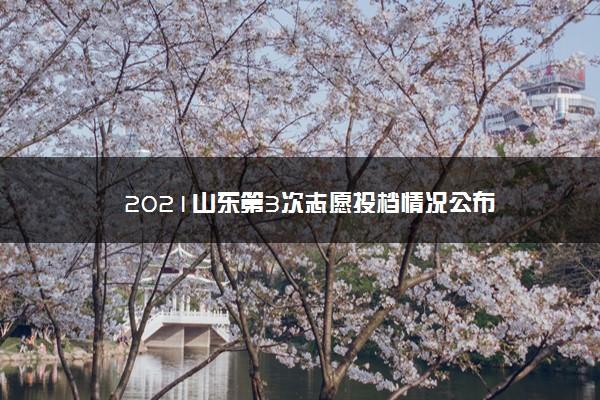2021山东第3次志愿投档情况公布