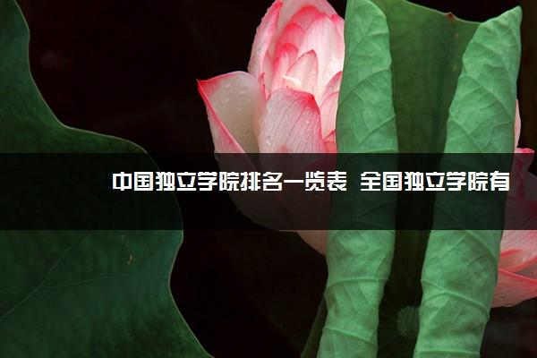 中国独立学院排名一览表  全国独立学院有哪些