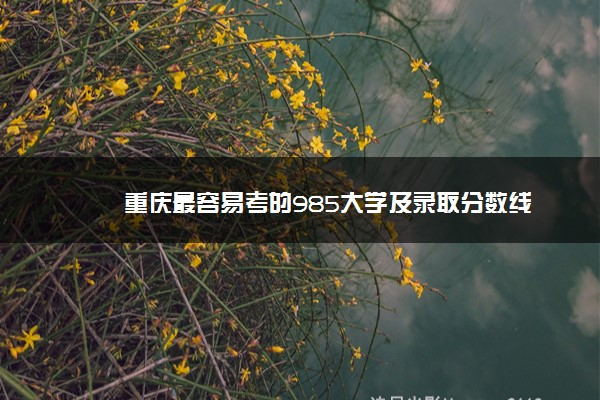 重庆最容易考的985大学及录取分数线
