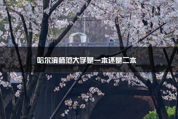 哈尔滨师范大学是一本还是二本