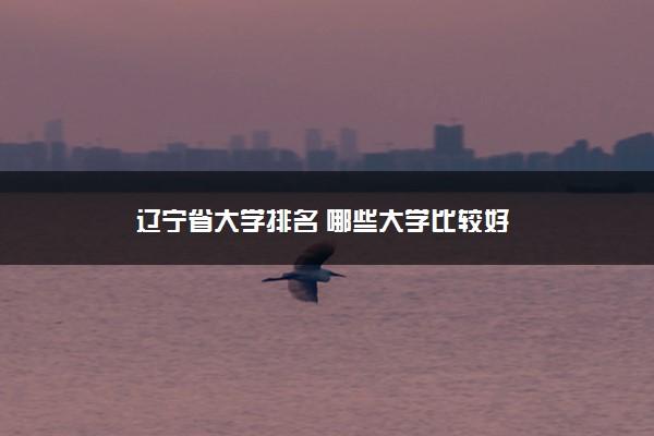 辽宁省大学排名 哪些大学比较好