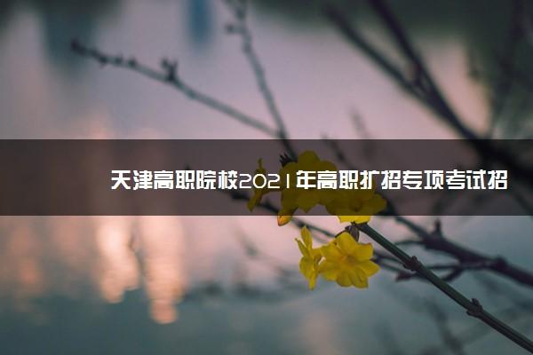 天津高职院校2021年高职扩招专项考试招生专业