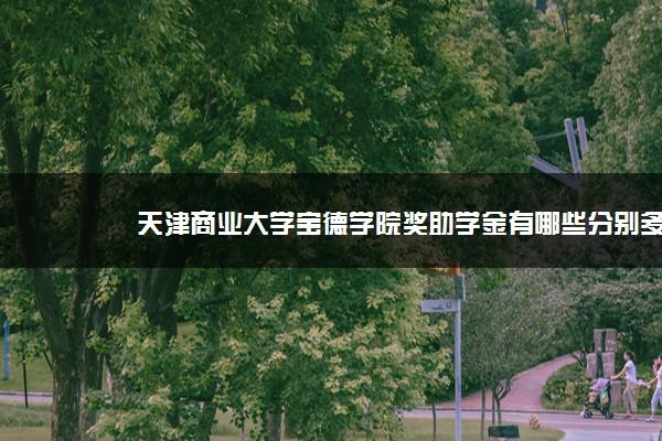 天津商业大学宝德学院奖助学金有哪些分别多少钱 怎么申请评定