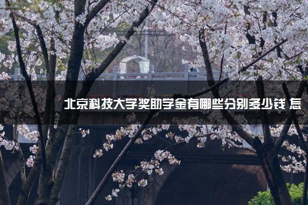 北京科技大学奖助学金有哪些分别多少钱 怎么申请评定