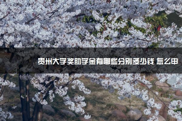 贵州大学奖助学金有哪些分别多少钱 怎么申请评定