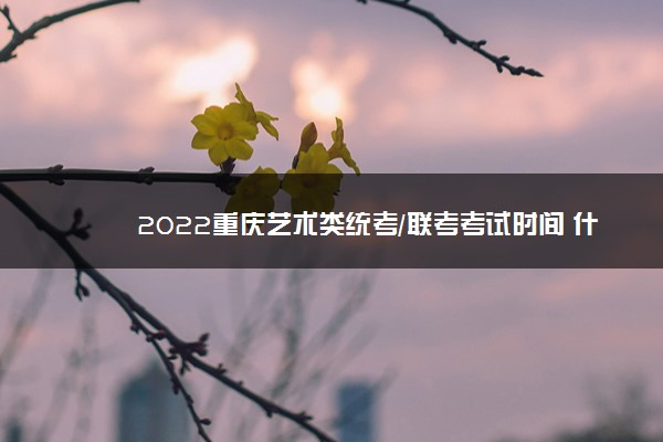 2022重庆艺术类统考/联考考试时间 什么时候考试