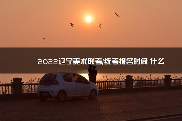 2022辽宁美术联考/统考报名时间 什么时候报名