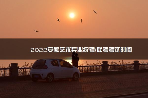 2022安徽艺术专业统考/联考考试时间 什么时候考试