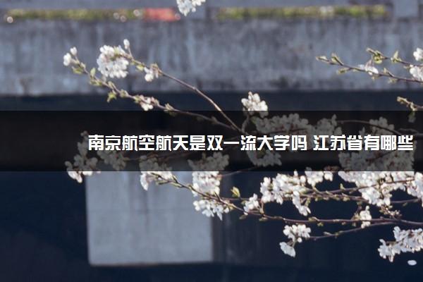 南京航空航天是双一流大学吗 江苏省有哪些双一流